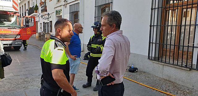 Alcalde de Villaviciosa Odón en explosión bombonas gas