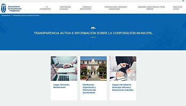 Nuevo portal de Transparencia de Majadahonda