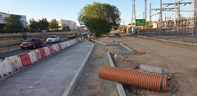 Obras de dársena de autobuses en Villavicosa de Odón
