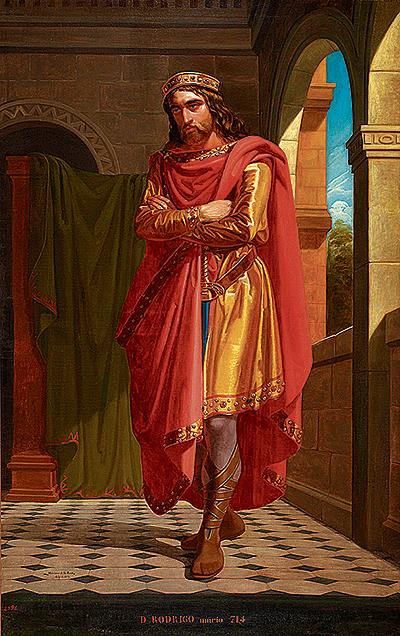 Don Rodrigo, Rey de los Visigodos. Museo del Prado