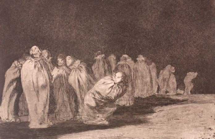 Disparate de los entalegados o ensacados. No 8, de Francisco de Goya (1816-1823). Colección Carlos Areán. CGAC, Santiago de Compostela