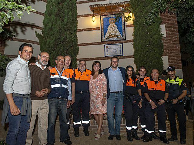 La alcaldesa de Pozuelo con protección civil