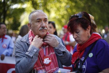 """El secretario general de UGT, Pepe Álvarez definía a Errejón como """"un hombre capaz"""", una persona """"con mucha perspectiva de aunar y trabajar por los derechos de las personas""""."""