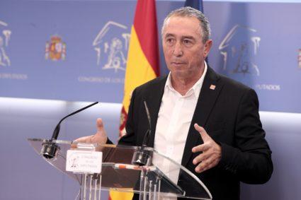 El portavoz de Compromís, Joan Baldoví, apostó desde el principio por una alianza con Iñigo Errejón. / EP