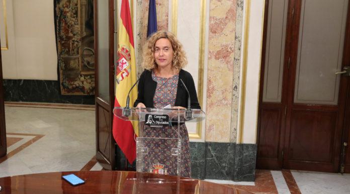 Meritxell Batet anunciando las nuevas elecciones generales / EP