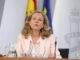 """La ministra Calviño asegura que """"la coyuntura económica sigue siendo positiva"""". / EP"""