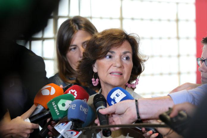 Carmen Calvo, vicepresidenta del Gobierno en funciones.
