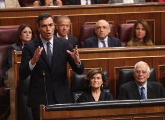 Pedro Sánchez en el Congreso de los diputados / Europa Press