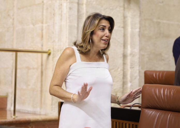 La expresidenta andaluza espera a una niña. / EP