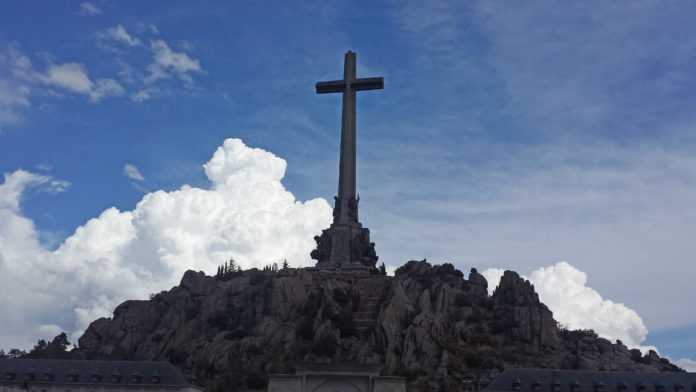 La fachada principal del Valle de los Caídos