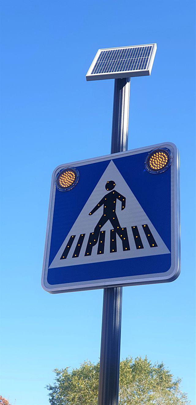 Pasos de peatones en Villavicios de Odón