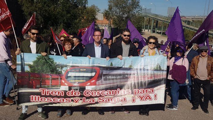 Manifestación por el tren en Numancia de la la Sagra